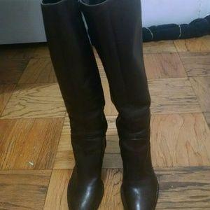 Ralph Lauren knee high heeled boots